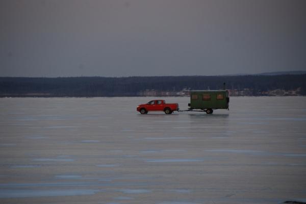 På väg från Stora Fårön 7 januari 2016